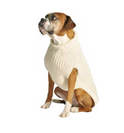 cable dog sweater