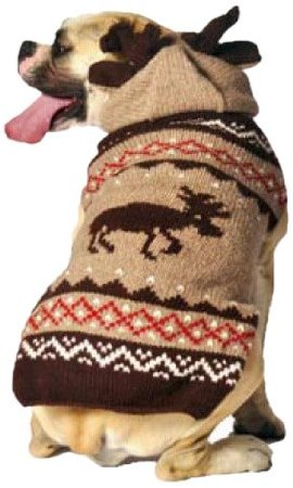 moose dog sweater