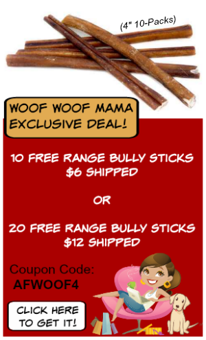 bully sticks discount woof woof mama. Black Bedroom Furniture Sets. Home Design Ideas
