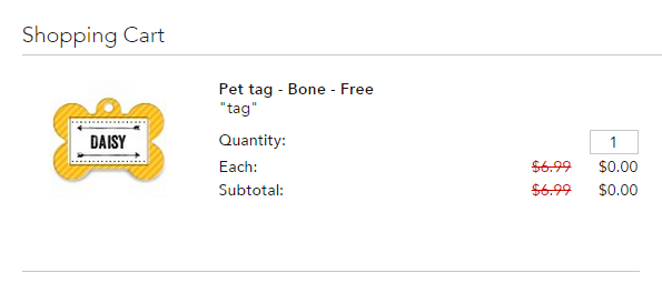 free dog tag