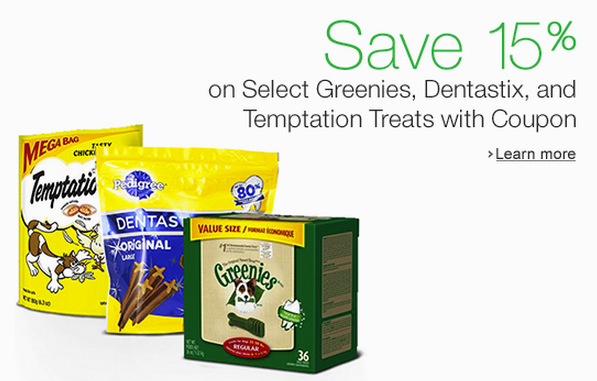 amazon pet coupon dental treats
