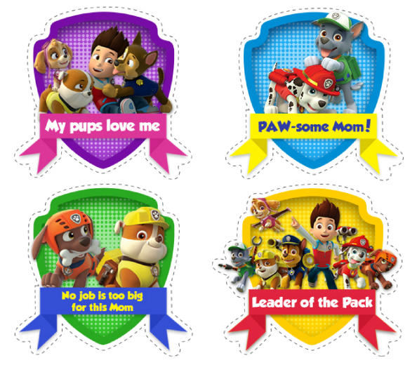 photograph regarding Paw Patrol Printable identified as PAW Patrol Moms Working day Printable: Free of charge Stickers for Your