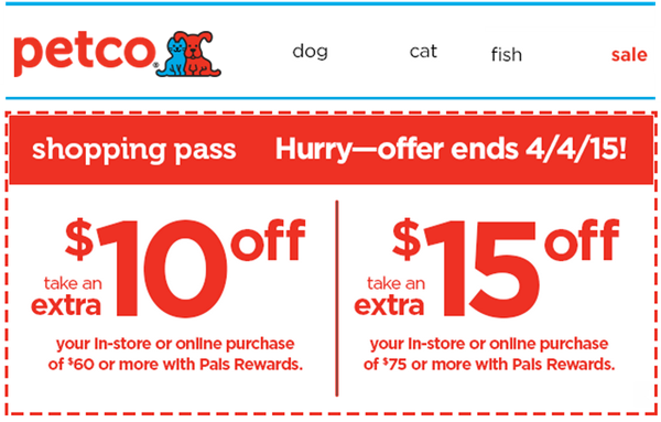 image relating to Petco Printable Coupon $10 Off $50 referred to as Petco discount coupons within retail store july 2018 / Chase coupon 125 funds