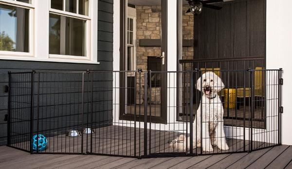 pet gate porch