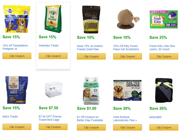 amazon pet coupons june
