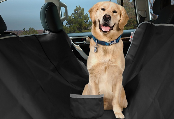 aspca car seat cover for dogs and free travel bowl reg woof woof mama. Black Bedroom Furniture Sets. Home Design Ideas