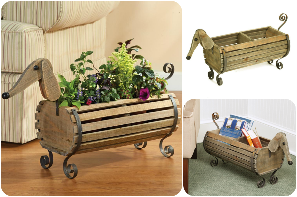 Super Cute Wooden Planter And Toy Bin For Dog Lovers Woof Woof Mama