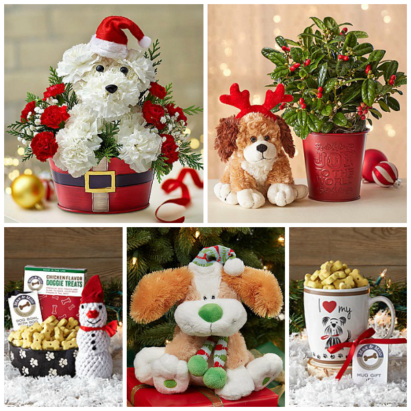 Dog Flowers Gifts Christmas
