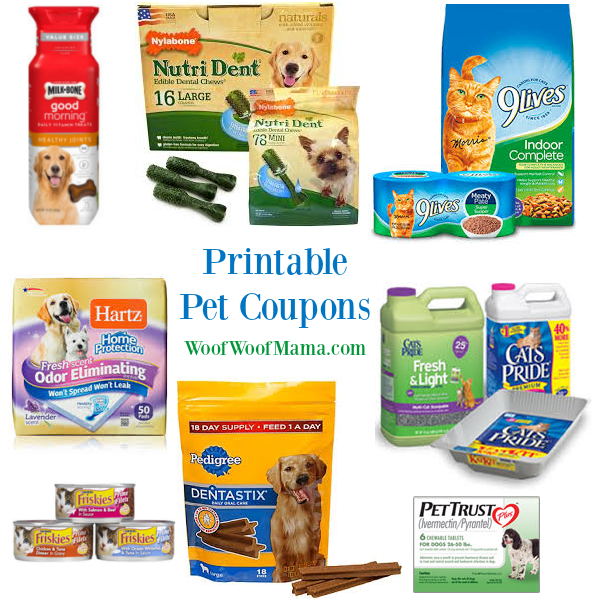 Printable Pet Coupons for Friskies, Nutri Dent, Cat's