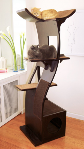 Refined feline cat furniture