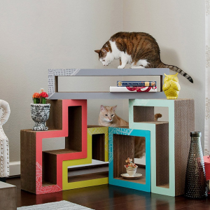 Colorful modular cat lounge