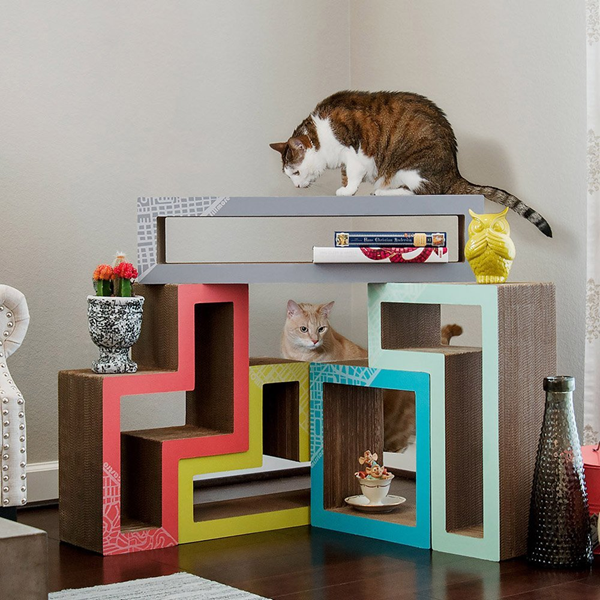 Colorful modular cat lounge