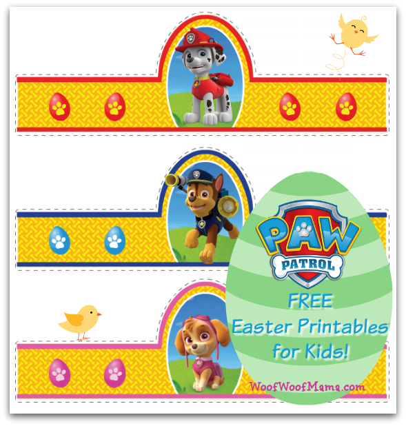 image about Printable Paw Patrol titled Printable PAW Patrol Easter Egg Holders for Doggy Loving Youngsters