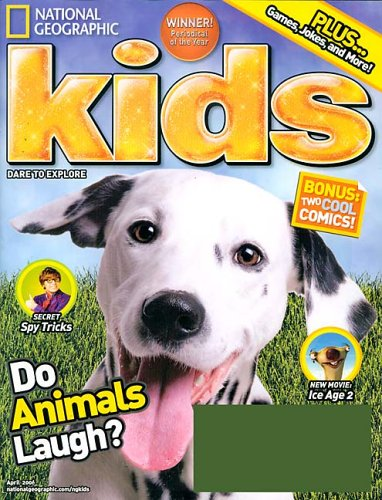 Dog laughing mag cover