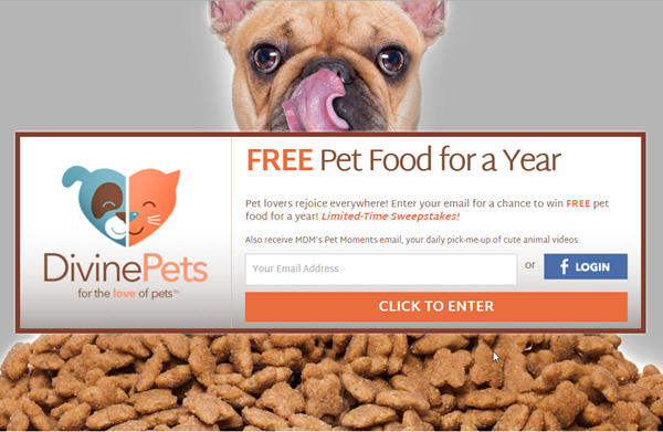 free pet food contest