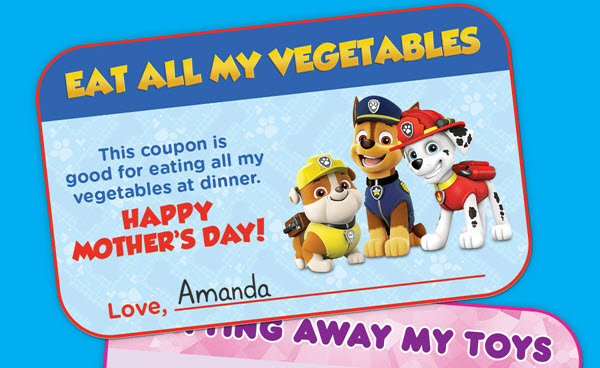 PAW Patrol Mothers Day coupons