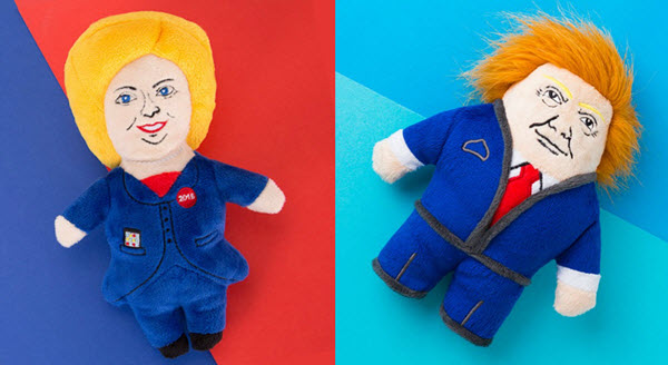 Presidential Candidate Dog Toys