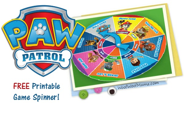 Printable PAW Patrol Dance Game
