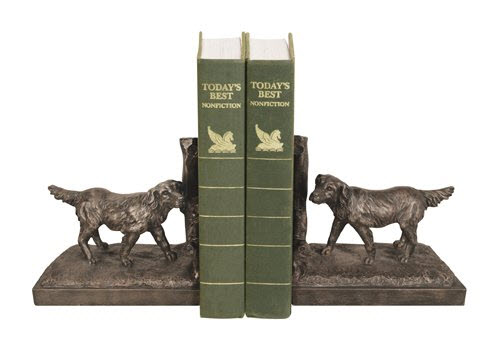 retriever dog bookends