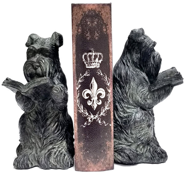 westie dog bookends