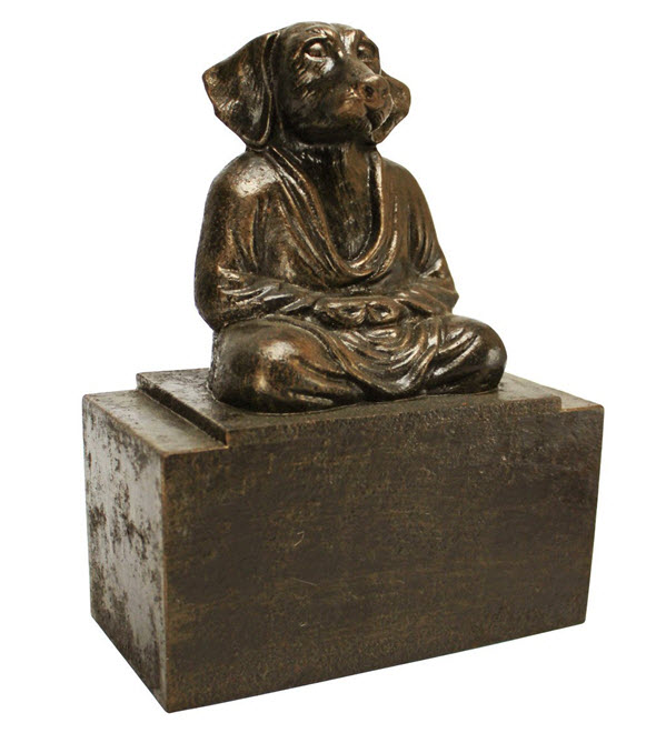 zen dog bookend