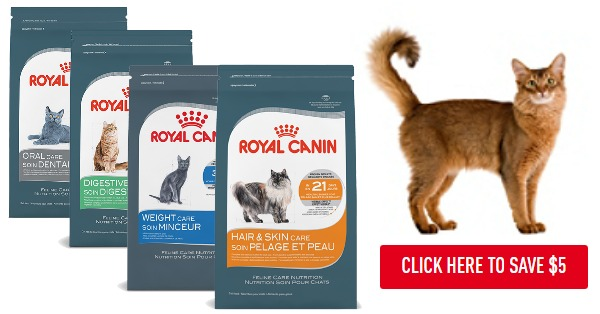 Royal Canin cat food coupon