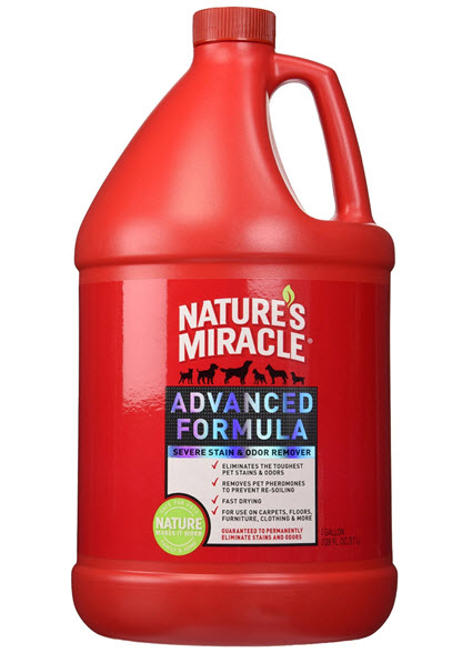 natures miracle pet stain remover