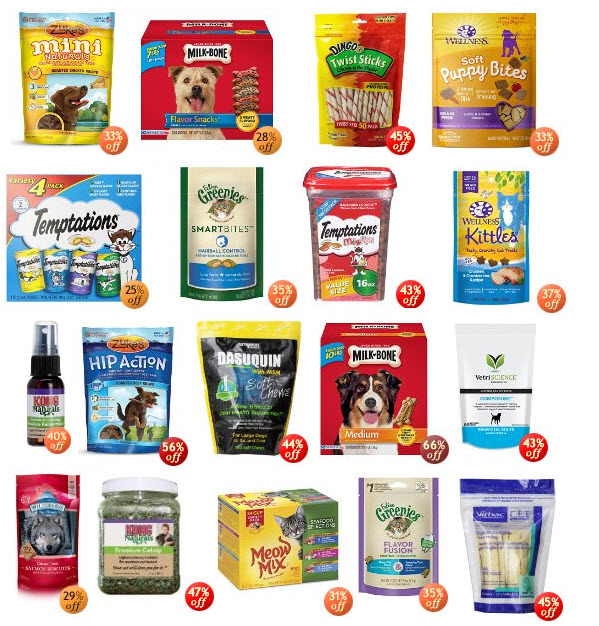 Amazon pet treat deals for dogs and cats