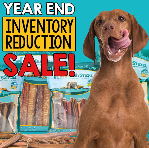 best bully sticks year end sale lowest prices on natural dog treats and chews woof woof mama. Black Bedroom Furniture Sets. Home Design Ideas