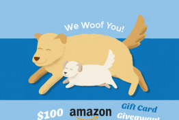 We Woof You! $100 Amazon Gift Card Giveaway