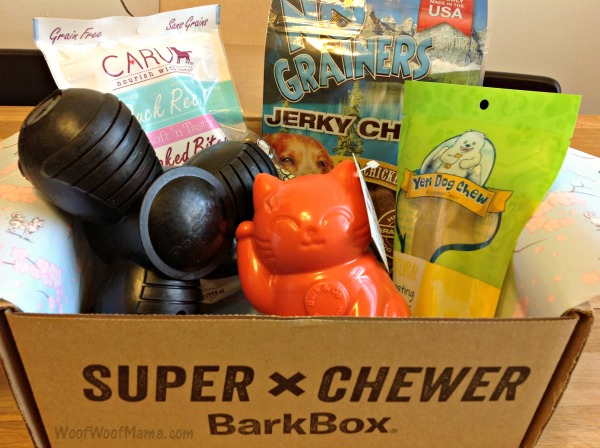 Super Chewer Barkbox Dog Subscription Box For Toy