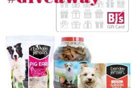 Win a $50 BJ's Wholesale Club Gift Card + Berkley Jensen Dog Treat Prize Pack