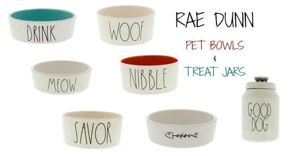 Rae Dunn Pet Bowls And Treat Jars Woof Woof Mama