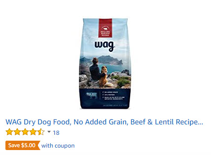 The Wag product line includes 5 dry dog foods. Each recipe below includes its related AAFCO nutrient profile when available on the product's official webpage: G rowth, M aintenance, A ll Life Stages, S upplemental or U nspecified.