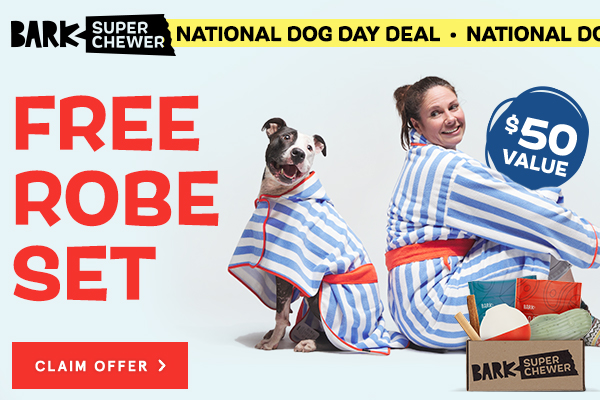 Matching robes for dogs and humans
