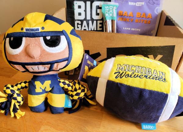 Michigan Football Dog Toys